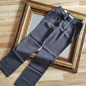 NEW OLD NAVY Gray Straight Pleated Pants Size 0